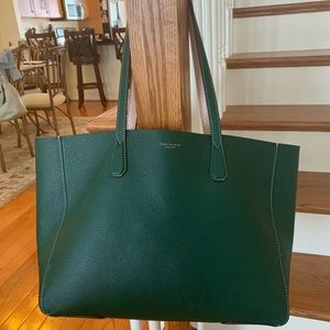 Tory Burch Green Perry Reversible Tote